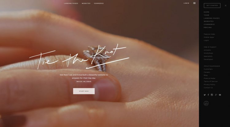 Site internet Squarespace