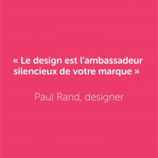 Une citation signée Paul Rand !