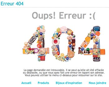 Erreur 404 Oups