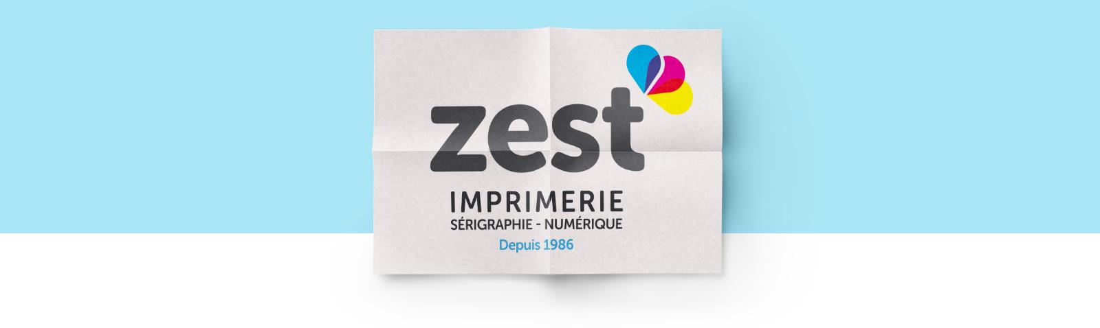 Logo - Zest Imprimeur