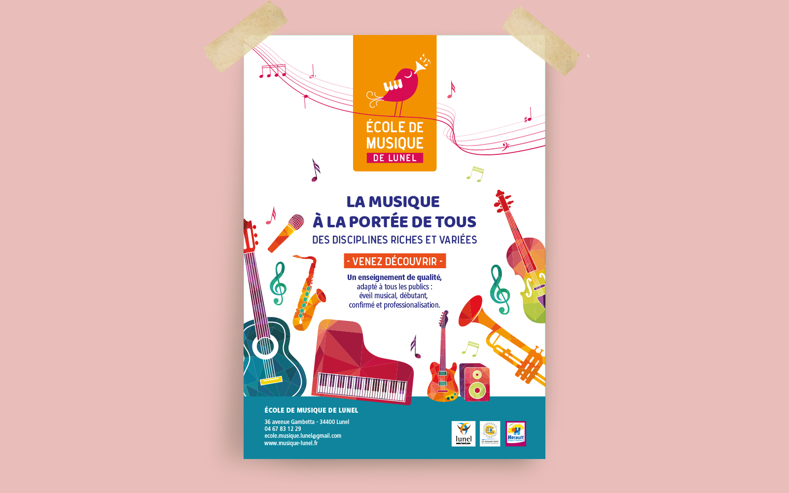 Affiche - école de musique Lunel