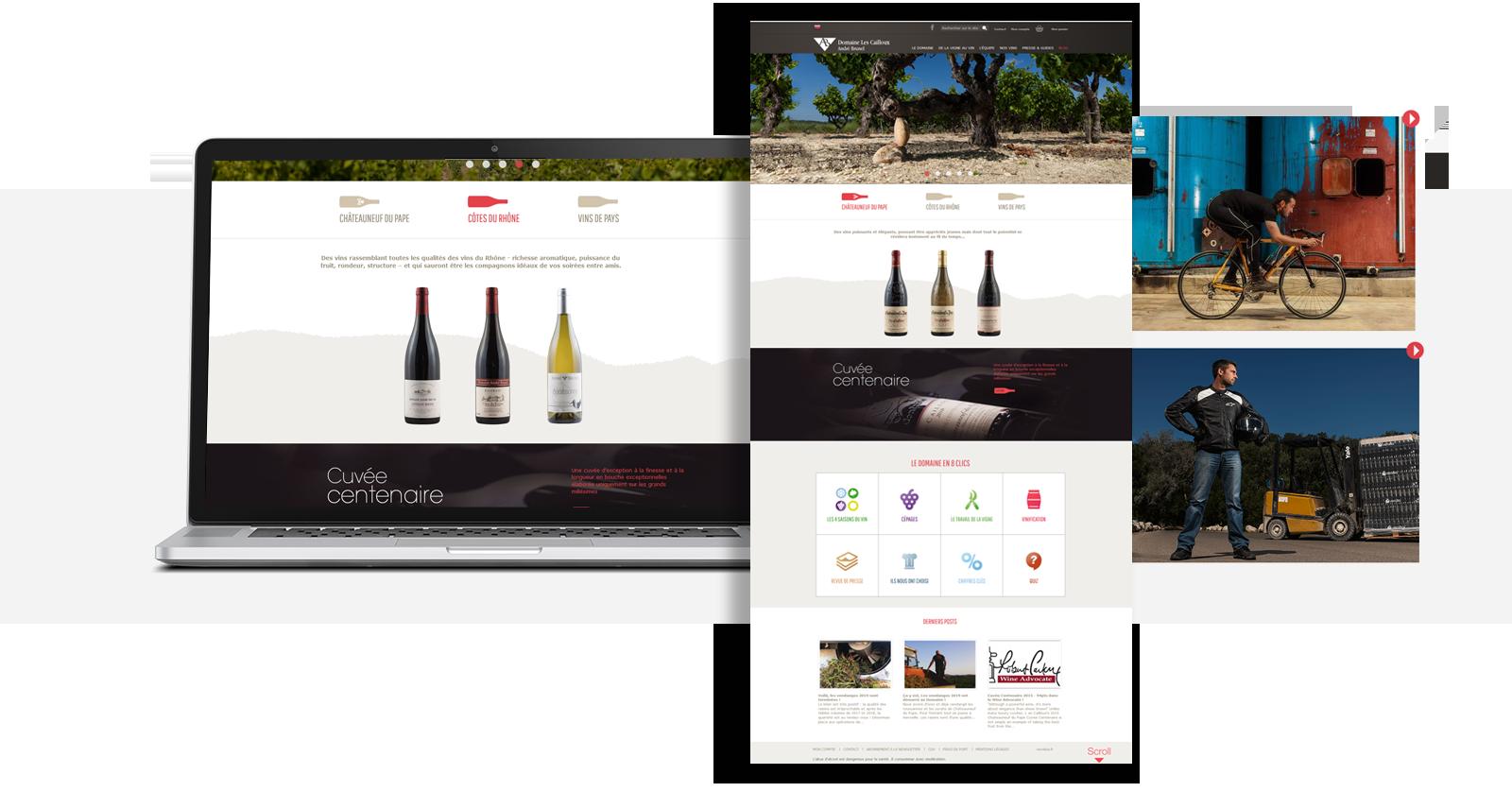 Site web Domaine des Cailloux