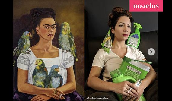 Frida Khalo-Moi et mes perroquets
