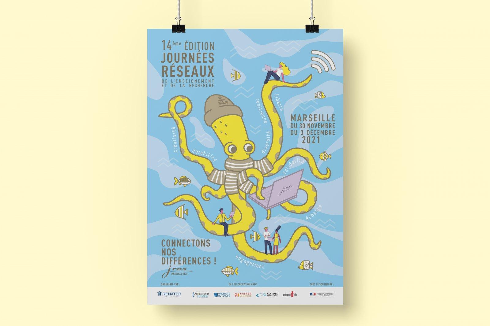 Affiche présente lors des JRES