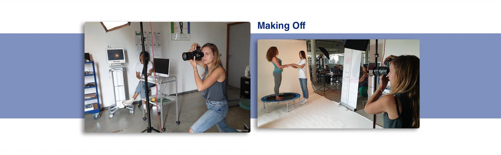 Making-off du shooting photo