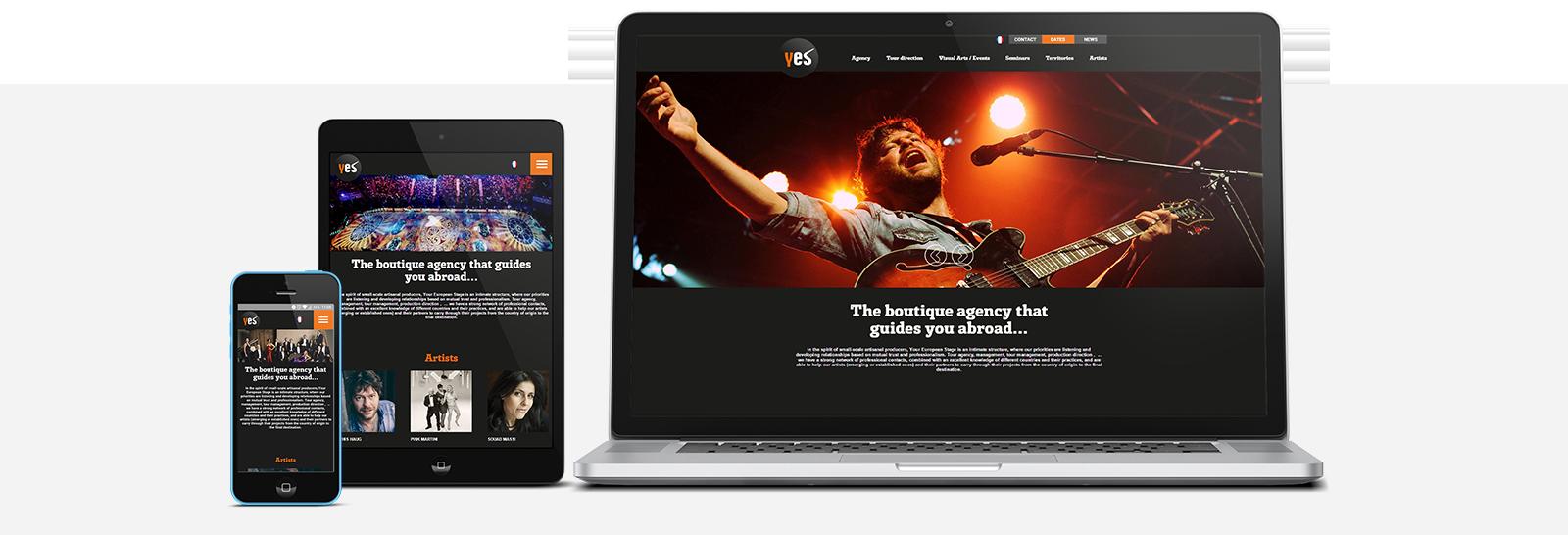 Site internet de Your European Stage