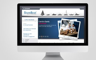 Site internet - SHAREBOAT