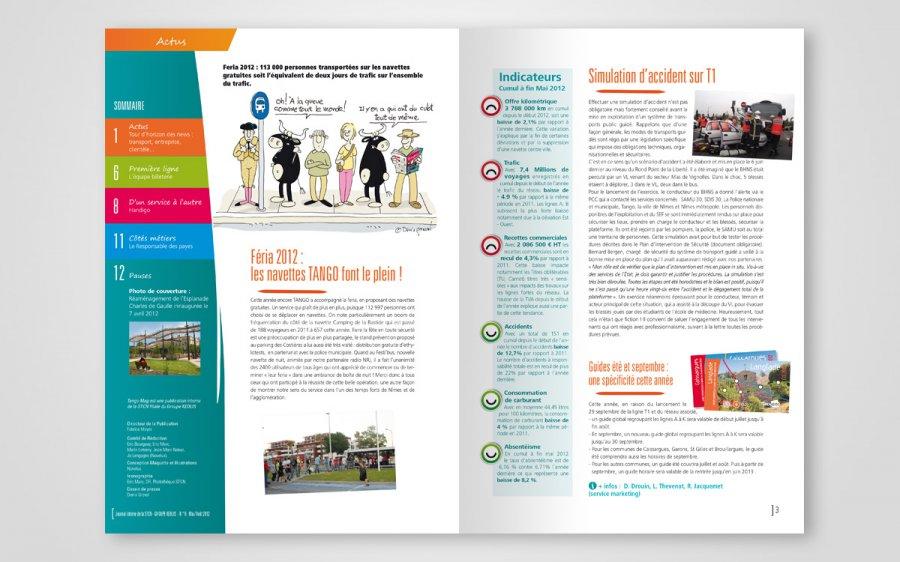 Journal interne Tango transports urbains de Nîmes - Novelus agence de communication Gard